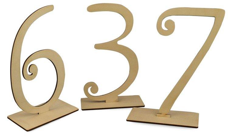 Drewniane Numerki Na Stół Wys 18 Cm